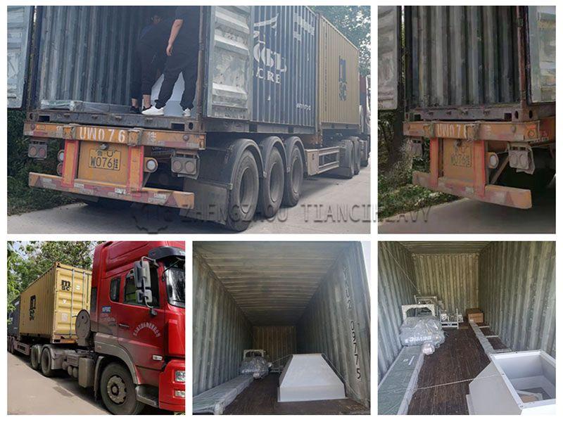 Fertilizer packing machine sold to Saudi Arabia