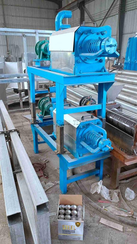 Dung dewatering machine sold to Thailand (3)