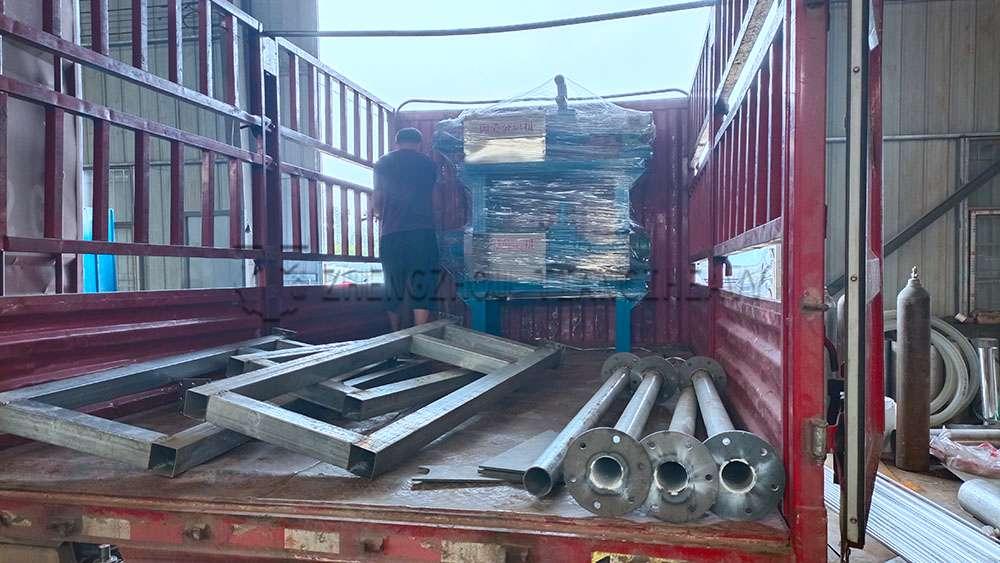 Dung dewatering machine sold to Thailand (5)