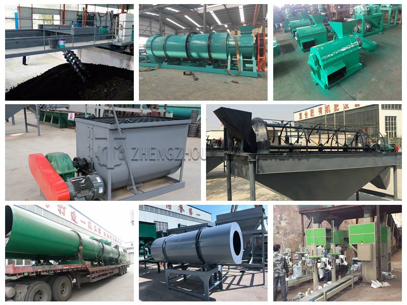 Equipment required for large-scale organic fertilizer production line